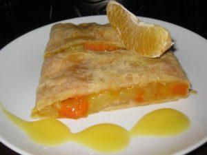 Штрудель с апельсином и тыковкой